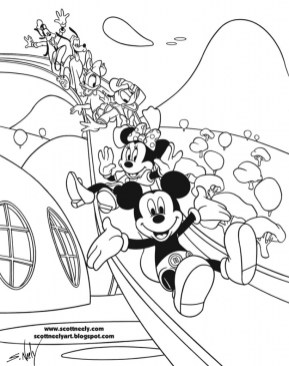 Mickey Mouse Clubhouse Coloring Pages Online mu5l