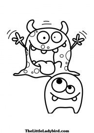 Monster Coloring Pages Free to Print ydn6
