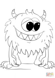 Monster Coloring Pages Free to Print yqta6