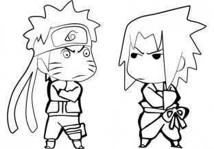 Naruto Chibi Coloring Pages 90578