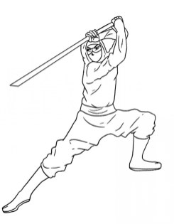 Ninja Coloring Pages Free gsm65