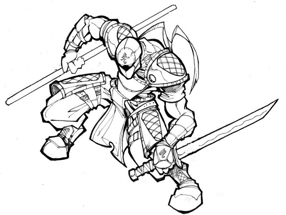 Ninja Coloring Pages Free Printable   e52m