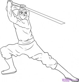 Ninja Coloring Pages Free Printable srw2m