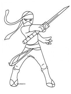 Ninja Coloring Pages Free Printable yf4nc