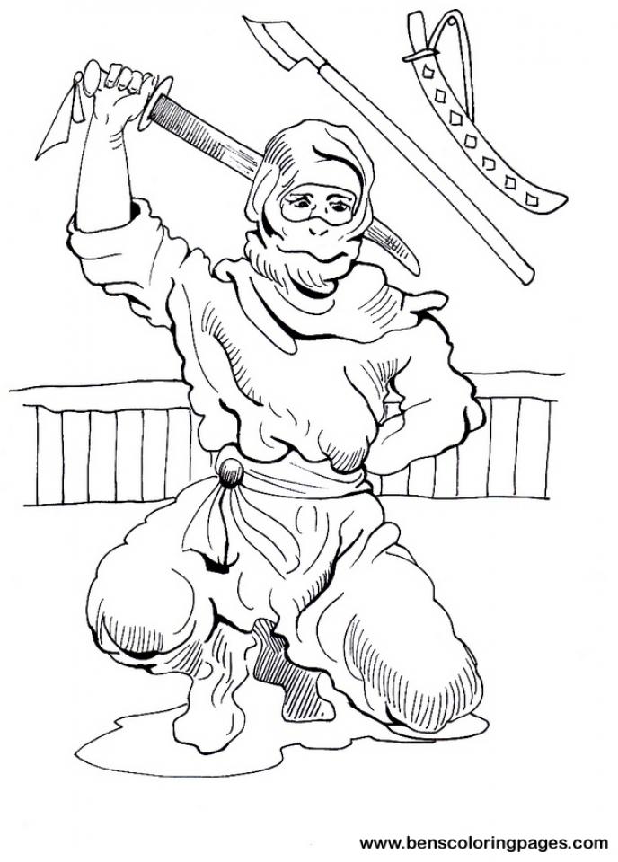 Ninja Coloring Pages Printable   tcb4m