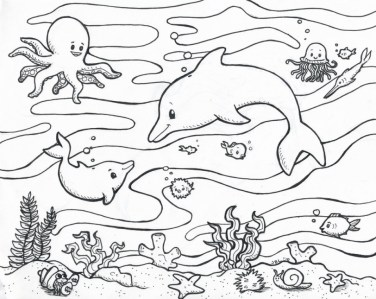 Ocean Animals Coloring Pages 7sbw0