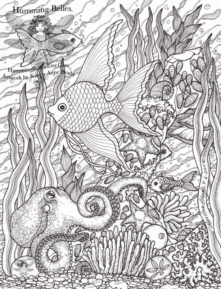 Ocean Coloring Pages for Adults   274f6