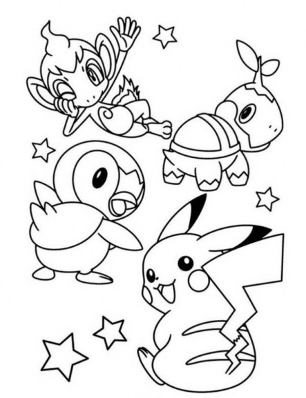 Pikachu Coloring Pages Free agvt4