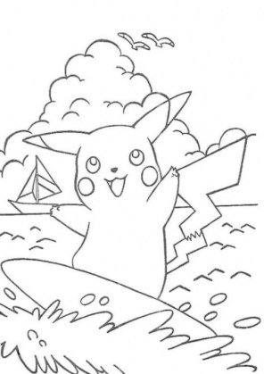 Pikachu Coloring Pages Online yeoa6