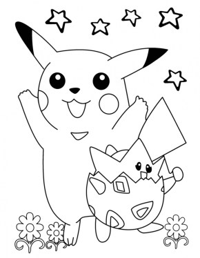 Pikachu Coloring Pages Printable urtag2