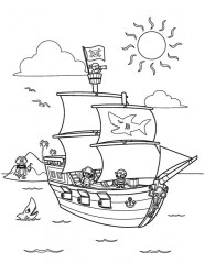 Pirate Ship Coloring Pages 6a731
