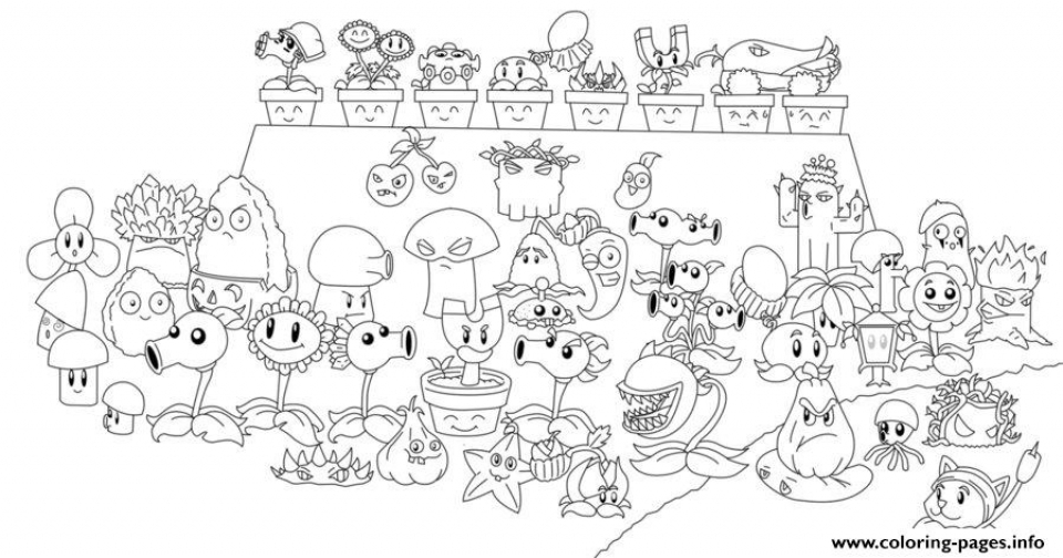 20 Free Printable Plants Vs Zombies Coloring Pages Everfreecoloring Com