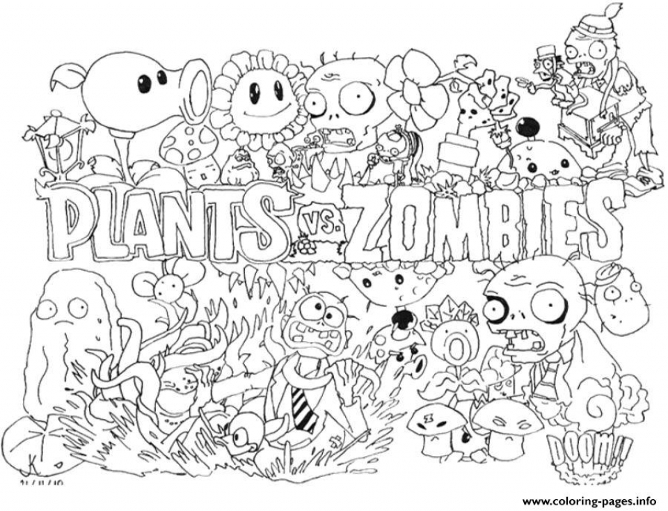 - Get This Plants Vs. Zombies Coloring Pages Free For Kids Taye3 !