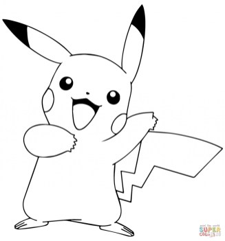 Pokemon Pikachu Coloring Pages 90gh3