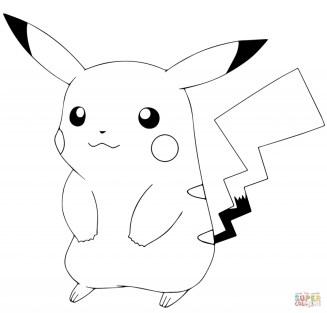 Pokemon Pikachu Coloring Pages a5dg3