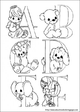 Precious Moments Coloring Pages Alphabet Free Printable 67418