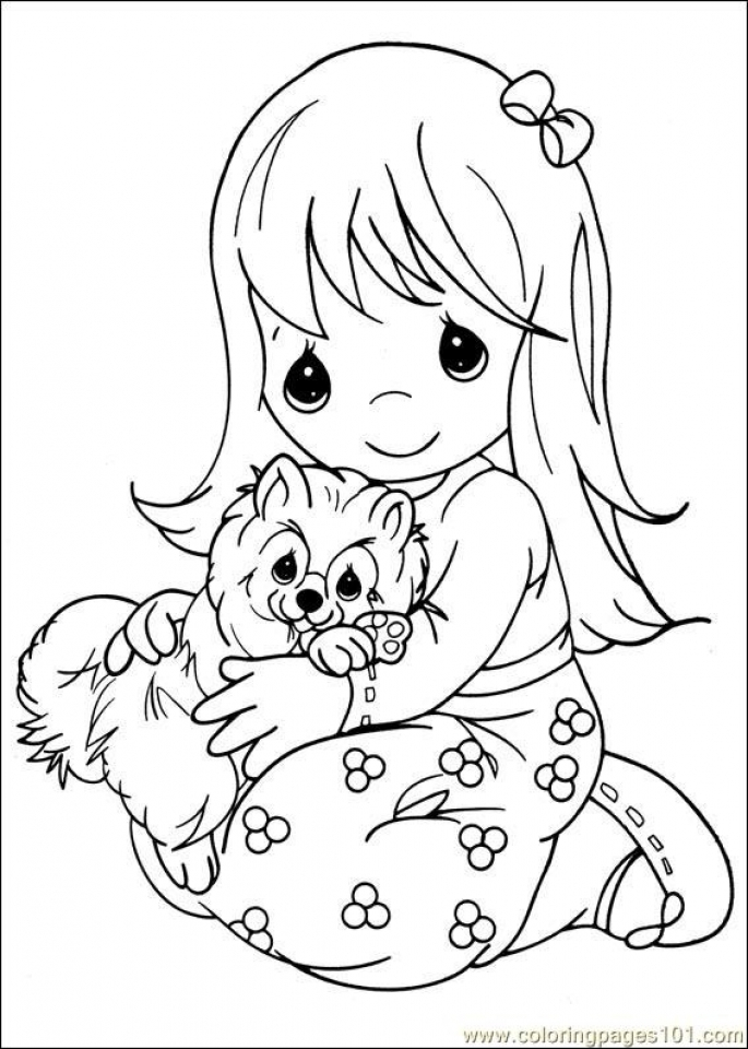Precious Moments Coloring Pages Get Christmas Book For Sale Girl ... | 960x685