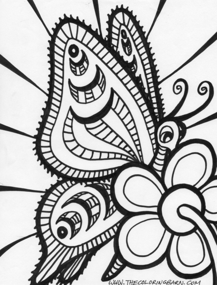 Printable Butterfly Coloring Pages for Adults   89578
