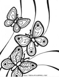 Printable Butterfly Coloring Pages for Adults 90571