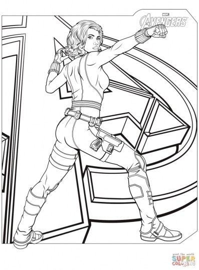 Printable Marvel Coloring Pages Black Widow 2h4ab