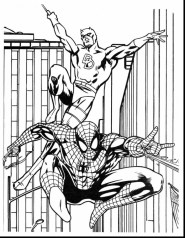 Printable Marvel Coloring Pages Captain America and Spiderman 73ban