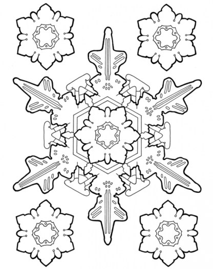 Printable Snowflake Coloring Pages for Adults 36178