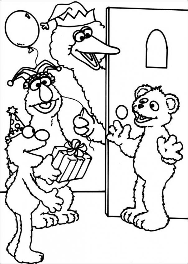Sesame Street Coloring Pages Kindergarten   gs6cm