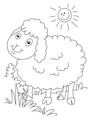Sheep coloring pages free prc9q
