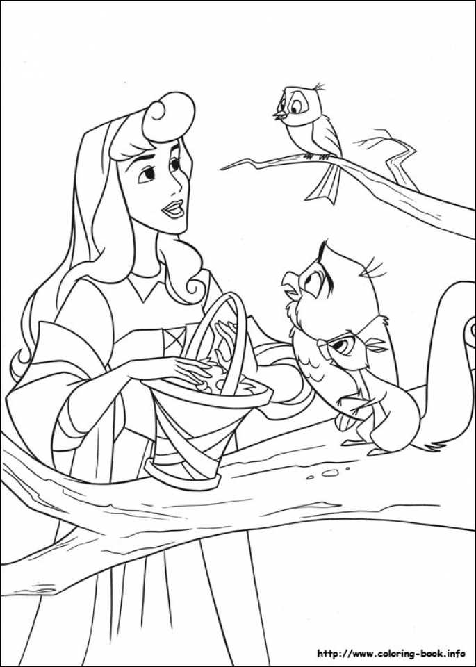 Sleeping Beauty Coloring Pages Free   2ahrt