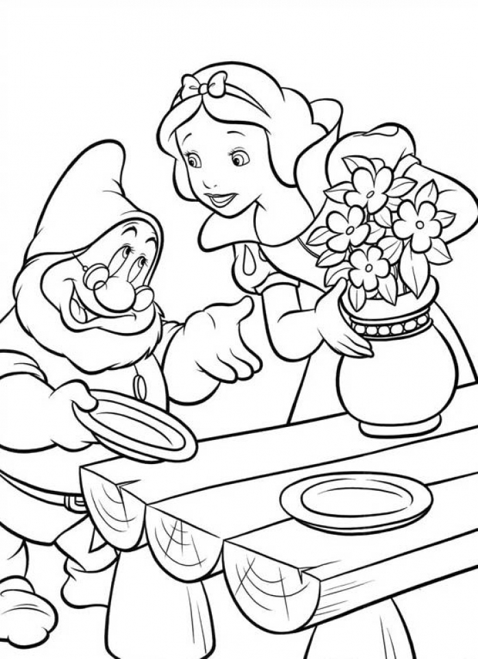 Snow White Coloring Pages for Girls   agdr1