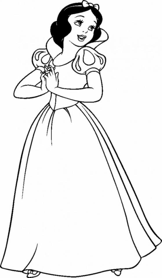 Snow White Disney Princess Coloring Pages Girls   Snow white ...   960x559