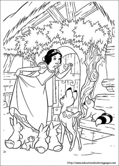 Snow White Coloring Pages Online mi7l2