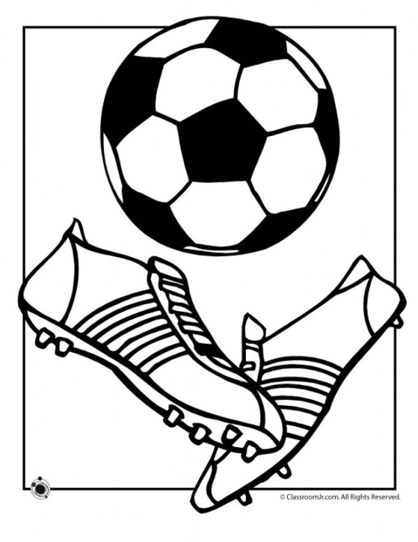 soccer coloring page # 21