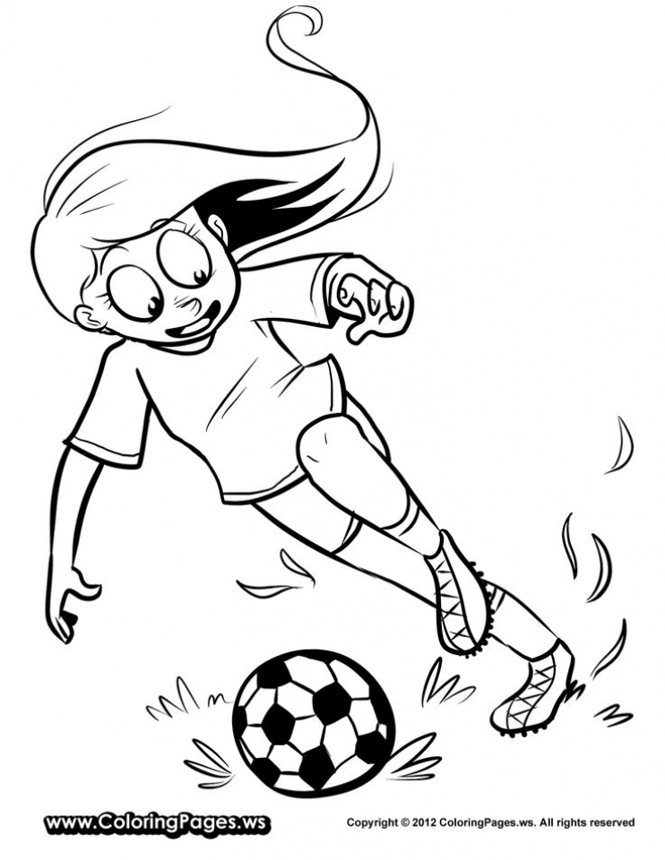Soccer Player Coloring Page | crayola.com | 960x742