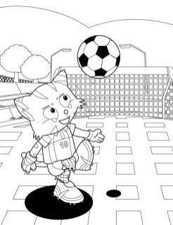 Soccer Coloring Pages to Print for Kids 264m8