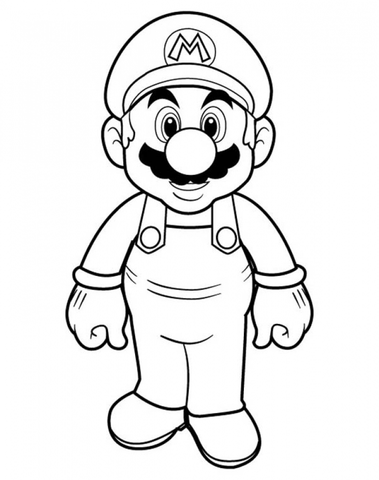 Super Mario Coloring Pages for Kids   hdt3n