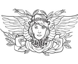 tattoo design coloring pages - 64562