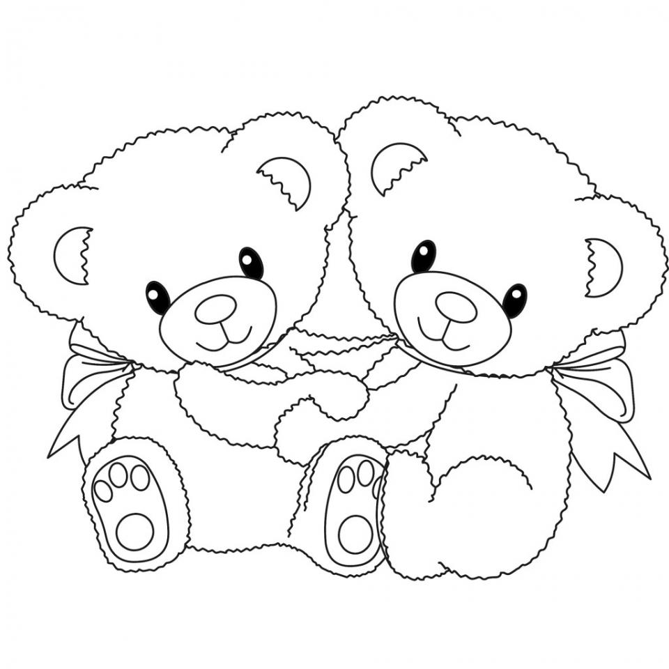 Teddy Bear Coloring Pages Kids Printable   748aj