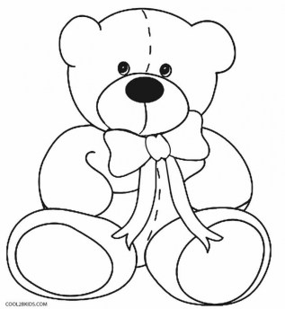 Teddy Bear Coloring Pages to Print ta63m