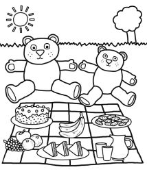 teddy bear picnic coloring pages - auyr2
