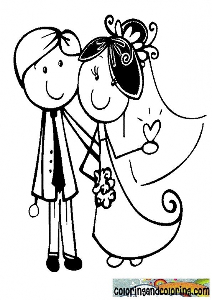 Wedding Coloring Pages to Print   77491