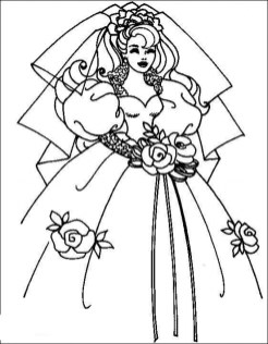 Wedding Dress Coloring Pages brn5m