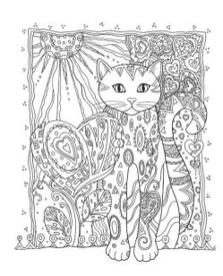 Adult Coloring Pages Animals Cat 3