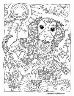 Adult Coloring Pages Animals Dog 2