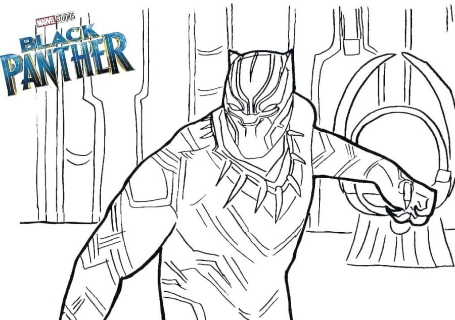 Black Panther Coloring Pages Free trg7