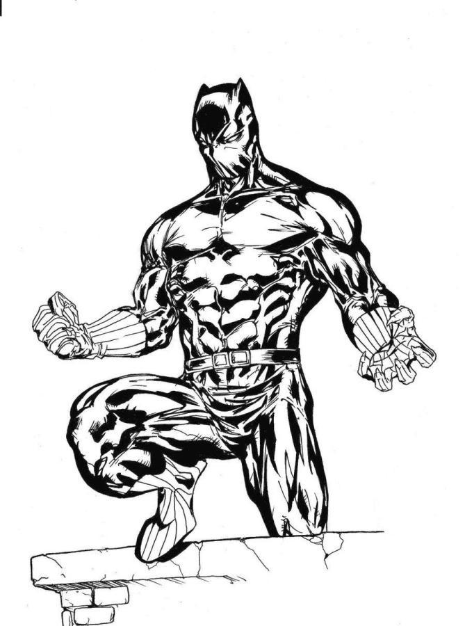 Black Panther Coloring Pages Printable bat3