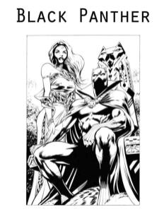 Black Panther Coloring Pages trn2