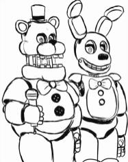 Five Nights at Freddys coloring pages baz3