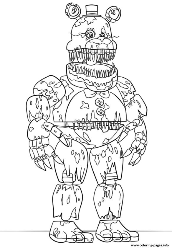 Five Nights at Freddys coloring pages ic75