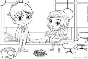 Free Shimmer and Shine Coloring Pages for Kids drw7